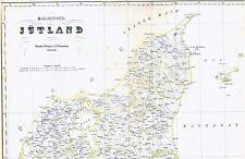 Echte 170 Jahre alte Landkarte KÖNIGREICH DÄNEMARK Jütland Jylland 1848