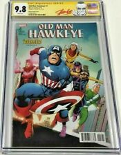 Marvel Old Man Hawkeye #1 Avengers #4 Homage Cover Signed by Stan Lee CGC 9.8 SS