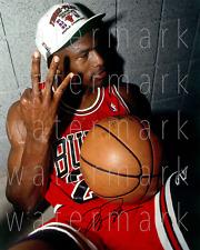 Michael Jordan 3peat Chicago Bulls signed 8X10 inch photo picture poster art rp