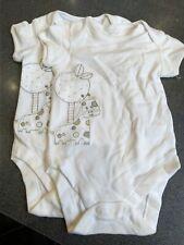 2 marks and spencers popper vest envelope neck boy girl unisex Bnwot 6-9 months