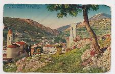 la turbie , la tour d'auguste et le mont-agel