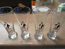 VINTAGE SET OF 4 HAMM'S BEER GLASSES BEAR IS BLACK IN COLOR