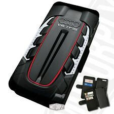 Printed Faux Leather Flip Phone Case For Huawei - Audi V8 TFSI - Engine Bay