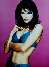 Greg Gorman Limited Edition Photo Print 40x54 Black Hair Model Blue Bikini 1997