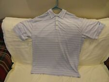 NIKE GOLF FIT DRY POLO GOLF S/S SHIRT MEN'S LARGE WHITE WITH STRIPES  EUC