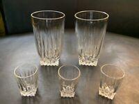 Federal Park Avenue Bar Set Of 5 Glasses 2 RARE Highball & 3 Shot Glasses VTG