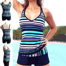 UK Women Sporty Tankini sets with Boy Shorts Ladies Swimwear Two Piece Swimsuits