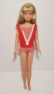 Vintage 1960's Mattel Skipper Skipper Doll Blonde in Original Swimsuit OSS 60s