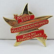 Juex Canada Winter Games Pin - 2007 Whitehorse Yukon - Volunteer Pin