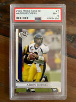 2005 AARON RODGERS PRESS PASS PSA 9 ROOKIE CARD GREEN BAY PACKERS