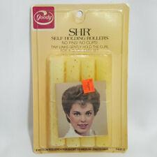 NOS Vintage Goody SHR Self Holding Rollers 8 Medium Yellow Short Medium Length