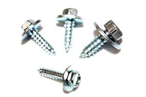 Acme Screws Hex Head Self Drilling BZP Zinc Plated 8 10 12 14 Gauge With Washer