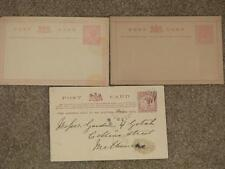 Victoria Post Cards 1d, One Penny (unused) & One Penny Stamp Duty (used)