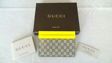 NEW & SUPER RARE!!! GUCCI GG Leather & Stainless Money Clip Wallet Card Holder
