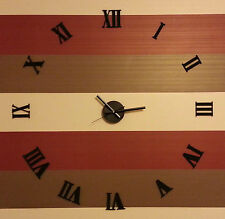 DIY Wall Clock  3D Frameless Roman Personal Home  Decoration