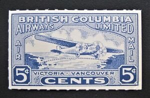 Canada Mint 1928 Vancouver to Victoria British Columbia Airways CL44 MNH OG