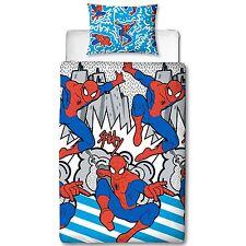 Spiderman Popart Set Housse de Couette Simple Garçons Literie Enfant Marvel