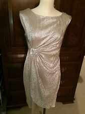 Connected Silver Dress Sz 9P