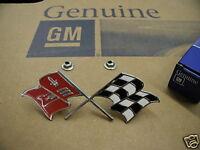 57 58 59 60 C1 CORVETTE CROSS FLAGS FENDER EMBLEM NEW GM
