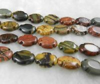 NATURAL 13X18MM MULTI-COLOR PICASSO JASPER GEMS EGG-SHAPED LOOSE BEAD STRAND 15""