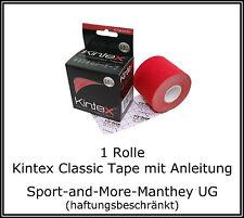 1 Rollen Kintex Classic Tape 5 cm x 5 m - Kinesiologie - Rot - Physio - Sport