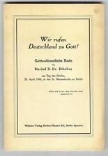 Vescovo Dibelius: Dio di sviluppo discorso 1946