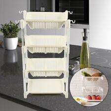 4 Layer Kitchen Vegetable Rack Fruit Basket Storage Unit Detachable New