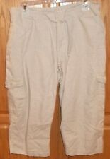 Womens SONOMA Tan CAPRIS~sz 14P 14 Petite Short~NEW~Cropped BEIGE Skimmer Pants