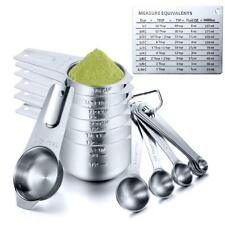 Measuring Cups and Spoons Set Stainless Steel, Umite Chef 7 PCS Heavy Metal