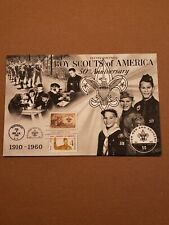 1960 Boy Scout, 1962 Girl Scout FDC, 50th Anniversary, BSA, first day, ship free