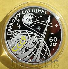 2017 Transnistria Russia 1Oz Color Silver Coin Earth Satellite Space Exploration