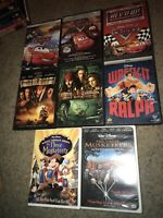 🔥8 Disney DVD Lot Cars Pirates Of Caribbean Wreck It Ralph The Three Musketeers