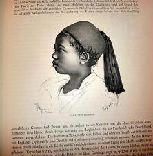 1879 Egypt Folio, 1stEd  Aegypten In Bild Und Wort, by Ebers 2V in German