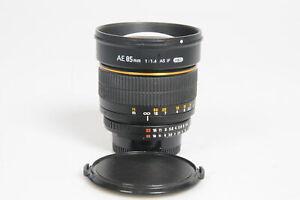 Rokinon 85mm f1.4 ASPH AS IF UMC Lens 85/1.4 Nikon F #226