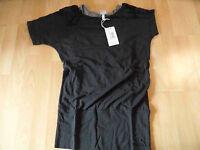BENCH schönes Shirt Lagenlook mit Top schwarz asymetrisch ALFIBERT Gr. XS NEU