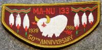 1988 OA Lodge 133 Ma-Nu 50th Anniversary (F3) Last Frontier Council BSA