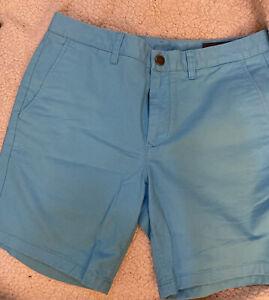 Mens BONOBOS Turquoise Chino Shorts - 7 inch inseam - 32 waist