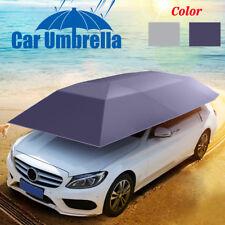 4X2.1M Ombrello Auto Tenda Stoffa Copriauto Impermeabile Anti UV Marina/Argento
