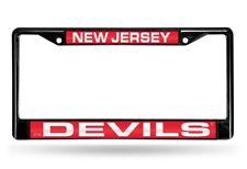 New Jersey Devils NHL Black Metal Laser Cut License Plate Frame