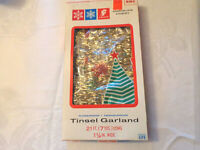 Vintage Gold Tinsel Christmas Tree Garland 21 Ft Long Tarnishproof Flameproof