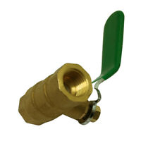 "1/4"" Female to Female Thread Full Port Metal Lever Handle Brass Ball Valve"