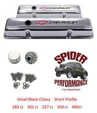1959-1964 Impala BelAir Biscayne small block BOWTIE CHROME short valve cover kit