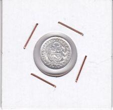 Peru : 1/2 Dinero 1916 XF+ ( silver )