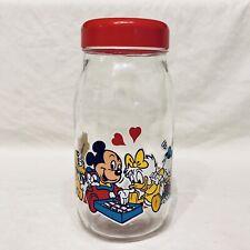 Bocal Disney en verre - 2 Litres - Made in France Vintage - Bon état