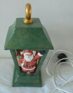 Ceramic Green Xmas Christmas Lantern Table Lamp Light Ornament Decoration