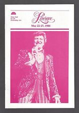 "LIBERACE ""Mr. Showmanship"" (Behind the Candelabra) 1984 Pittsburgh Program"