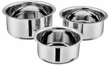 Stainless Steel 3-Piece Tope Set Without Lid