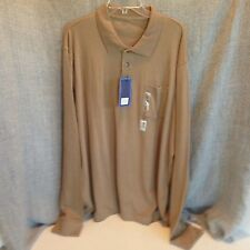 Croft & Barrow Mens XXL Brown Long Sleeve Polo Soft New With Tags