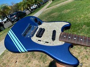 Fender Kurt Cobain Mustang Competition Blue Stripe Nirvana Lefty Left Handed MIJ