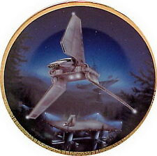 Vintage Imperial Shuttle Star Wars Vehicles Ceramic Collector Plate- Mib